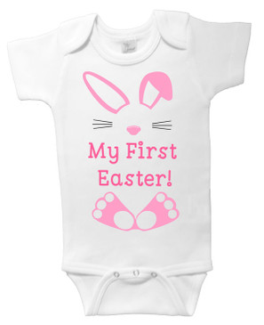 My First Easter Onesie - Pink Bunny