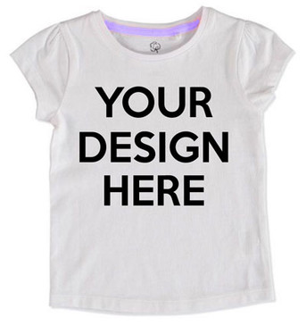 SALE Design Your Own Girl Tee - SIZE 5