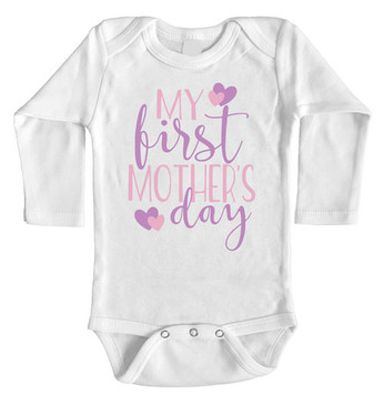 My First Mothers Day Onesie long