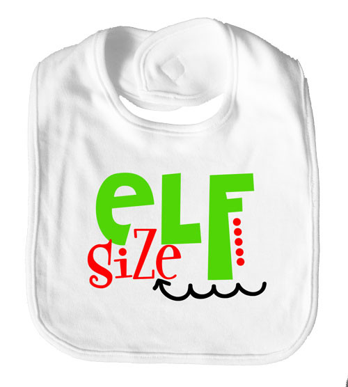 Elf Size Baby Bib Christmas