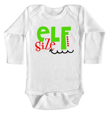 Elf Size Baby Onesie Christmas