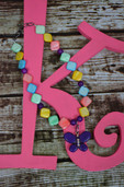 Multicolored necklace with butterfly pendant-Lil' Chick