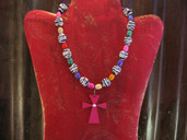 Zebra and multicolored necklace-Lil' Chick