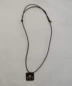 Men's triple cross necklace