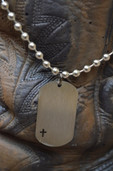 Stainless dogtag cross Dude Gear necklace
