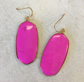 Gorgeous large oval inlay drop earrings