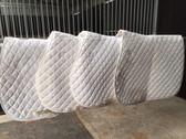 4 x White Diamond Saddle Blankets