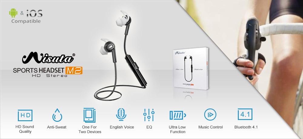 misuta m2 bluetooth 4.1 headphone