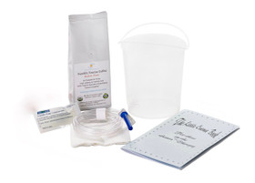 1.5 Quart  Plastic Coffee Enema Kit /  1/2 Lb Medium Roast Enema Coffee