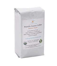 Purelife Organic Enema Coffee / Medium Air Roast / WHOLE BEAN / Gerson Accepted 1 lb.