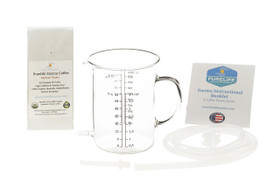 Glass Enema Bucket Organic Enema Coffee Silicone Enema Tubing