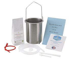 stainless steel enema bucket 8 oz enema coffee red tube clear tubing enema nozzles little enema booklet