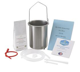 stainless steel enema bucket 8 oz enema coffee red tube clear tubing enema nozzles little enema booklet