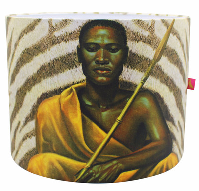 Tretchikoff Xhosa Warrior Lampshade
