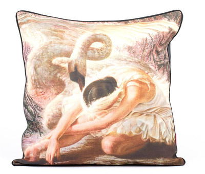 Tretchikoff Dying Swan Linen Cushion 60 x 60cm