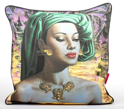 Tretchikoff 'Balinese Girl' Linen Cushion 60 x 60cm