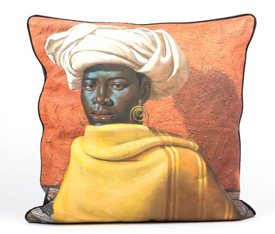 Tretchikoff 'Swazi Girl' Linen Cushion 60x60cm