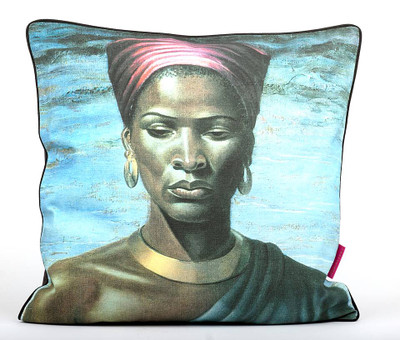Tretchikoff Zulu Girl Linen Cushion 60 x 60cm