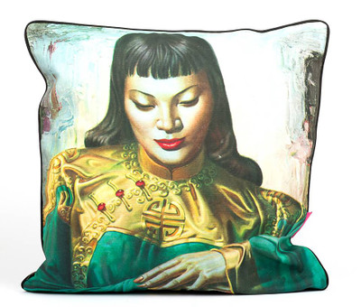 Tretchikoff 'Lady from Orient' Linen Cushion 60 x 60cm