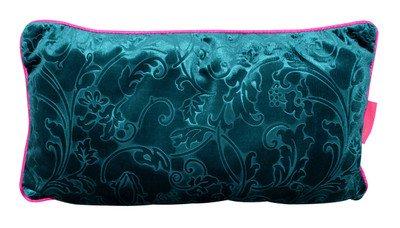 Tretchikoff Teal Velvet Lotus Cushion