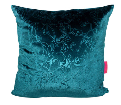 Tretchikoff Teal Velvet Lotus Cushion 50x50