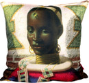 Tretchikoff Woman of Ndebele Cushion