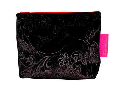 Tretchikoff Black Velvet Lotus Cosmetic Bag