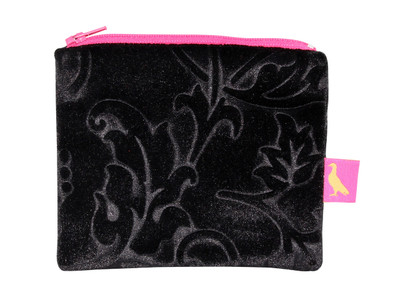 Tretchikoff Velvet Lotus Black Coin Purse
