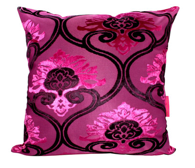 Tretchikoff 'Velvet Lotus' Fuschia Cushion 50x50cm