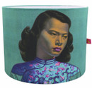 Tretchikoff 'Chinese Girl Duck Egg' Lampshade - front view