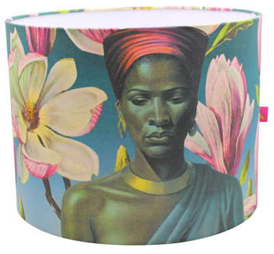 Tretchikoff 'Zulu Girl with Pink Magnolias' Lampshade