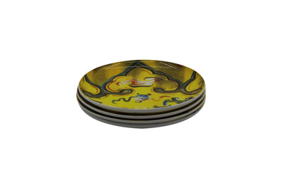 Set of 4 Tretchikoff 'Chinese Girl' Jacket Detail Side Plates