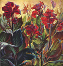 Tretchikoff 'Red Cannas' Vintage Print