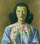 Chinese Girl - Blue Jacket vintage print