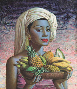 Tretchikoff Fruits of Bali vintage print