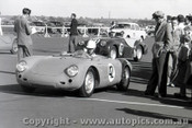 57428 - N. Hamilton porsche Spyder - Fishermen s Bend 16th June 1957 - Photographer Peter D Abbs