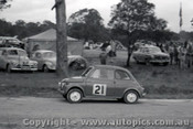 60918 - W. Lucas  Fiat - Templestowe Hill Climb 25th September 1960 - Photographer Peter D Abbs