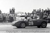 61525 - J. Jamieson Jnr. Austin Healey - Ballarat Air Strip 1961 - Photographer Peter D Abbs