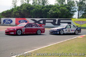 96017 - Mark Skaife  & C. Lowndes  Holden Commodore  - Sandown  1996 - Photographer Peter D Abbs