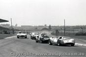 65472 -  Kevin Bartlett Mildren Maserati /  B. Stillwell -  Cooper Monaco Buick V8 - Sandown 1965 - Photographer  Peter D Abbs