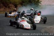 83520 - R. Barnale Elfin / G. Jones Van Dieman / D. Stanley  Forrester Bowin  Formula Ford - Amaroo Park 1983 - Photographer Ray Simpson