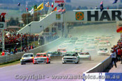 84700b - The Start - Bathurst 1984 - Brock/Commodore -  Fury/Nissan Bluebird - Johnson Falcon -  Photographer Lance J Ruting
