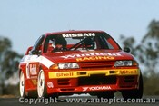 92025 - Jim Richards  - Nissan GTR - Oran Park 1992 - Photographer Ray Simpson