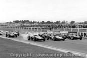 63500 - Start of the 1963 Sandown International - T. Maggs Lola - J. Brabhma Brabham - B. McLaren Cooper - Photographer Peter D Abbs