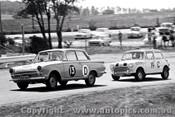 65741 - Bob Salter & Ken Wiggins Cortina GT 500 - Ray Kaeda & Graham Moore  Morris Cooper S   Bathurst 1965 - Photographer Lance J Ruting