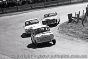 65745 - Lindsay Little & Stan Pomroy  Morris Cooper S Bruce McPhee & Barry Mulholland Cortina GT 500 -  Bathurst 1965 - Photographer Lance J Ruting