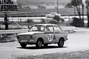 65753 - Trevor Meehan & Pat Holmes  Fiat 850   Bathurst 1965 - Photographer Lance J Ruting
