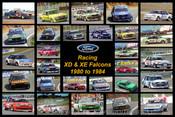 Racing XD & XE Falcons - A collection of 28 photos of racing XD & XE Falcons from 1980 to 1984.