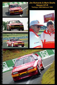 Jim Richards & Mark Skaife  -  A collection of 5  photos from Bathurst 1992 - Nissan GT-R