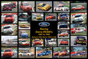426 - Racing Ford Sierra RS500 s - A collection of 28 photos of racing Sierra s  - 1987 to 1992.